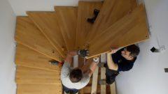 Treppenwechsel von Holz auf Stahl