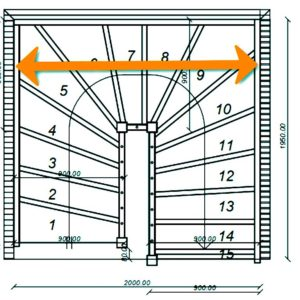 Grundrisse 1/2 gewendelte Treppen