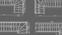 Grundrisse 1/4 gewendelte Treppen