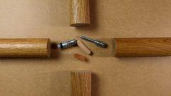 Runde Holzhandläufe miteinander verbinden