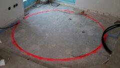 Runde Deckenöffnung für Spindeltreppe in Betondecke