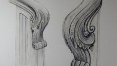 Sketchtime - Geschnitzter Handlaufanfang