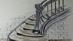 Sketchtime - Treppe Maschinenhaus Zeche Zweckel