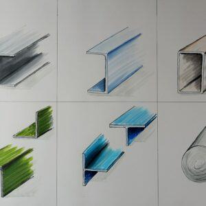 Sketchtime - Stahlprofile skizzieren lernen